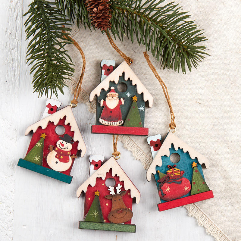 Primitive Birdhouse Christmas Ornament Christmas Ornaments Christmas And Winter Holiday Crafts Factory Direct Craft