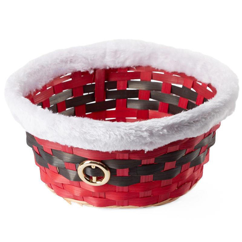 Christmas Baskets.Santa Belt Christmas Basket