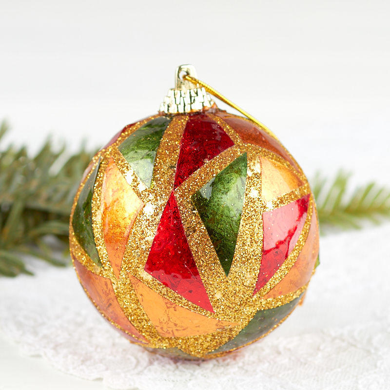 Mosaic Christmas Ball Ornament - Vase and Bowl Fillers ...