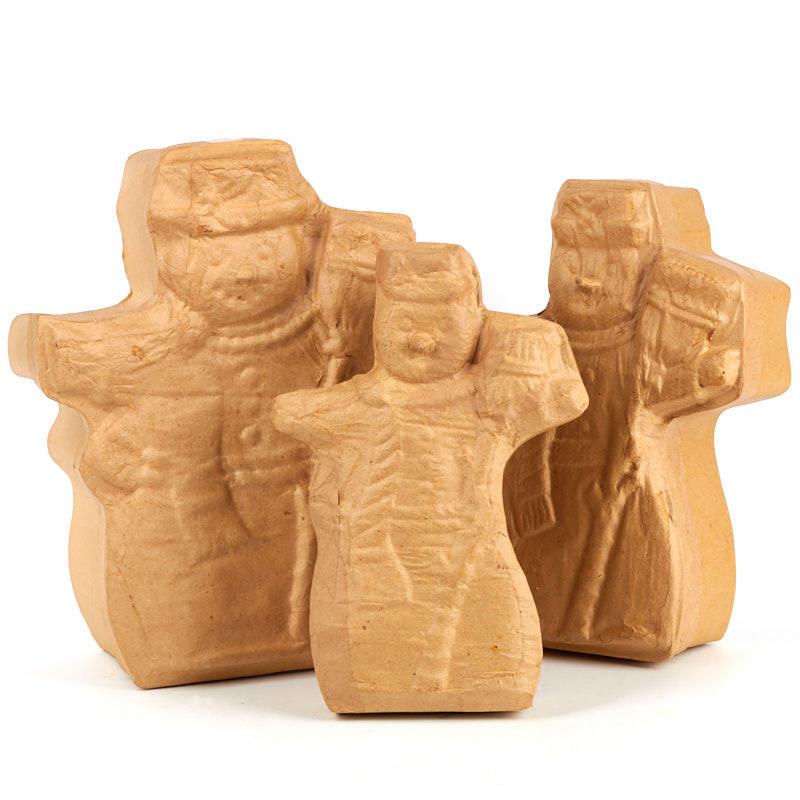 Paper mache snowman box set paper mache basic craft for Perfect paper mache
