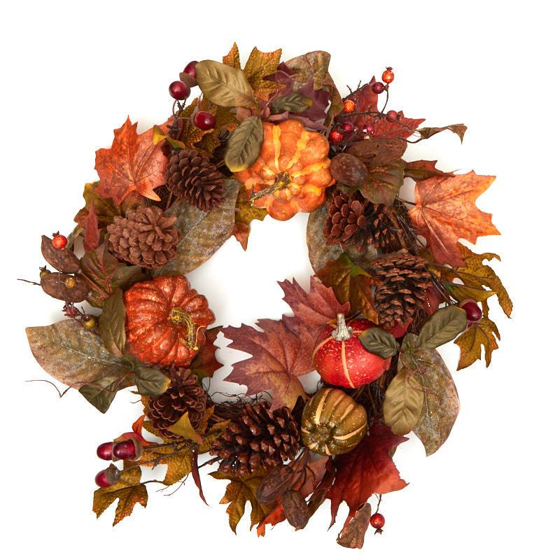 Autumn splendor wreath on sale craft supplies for Craft wreaths for sale
