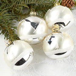 Hand Painted Silver Christmas Ball Ornaments Christmas Ornaments Christmas And Winter Holiday Crafts Factory Direct Craft