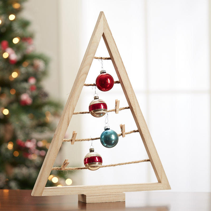 A Frame Christmas Tree Ornament Display Table Decor