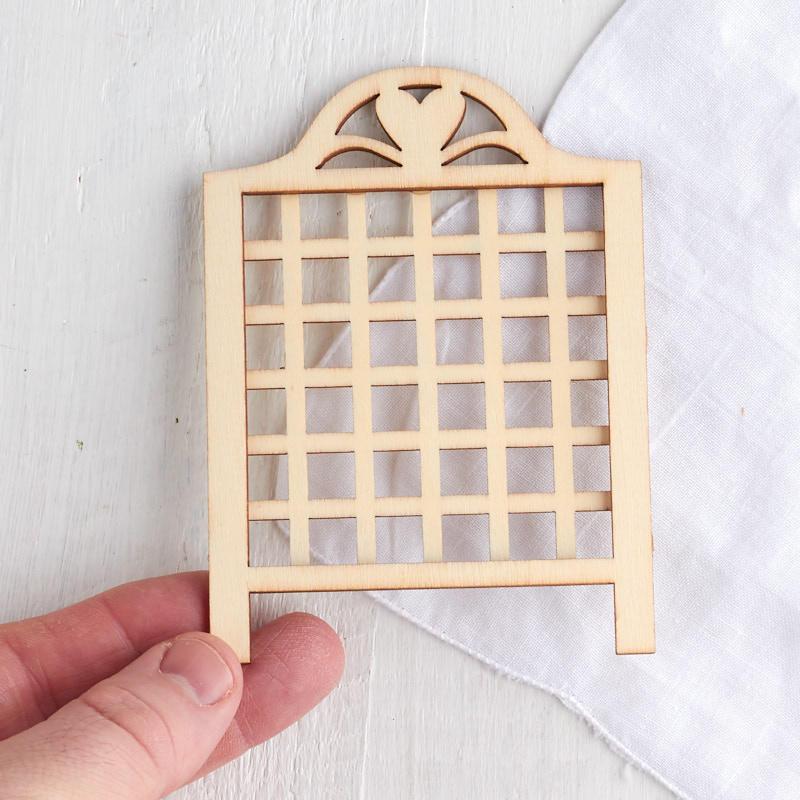 Gnome Garden: Miniature Unfinished Wood Lattice