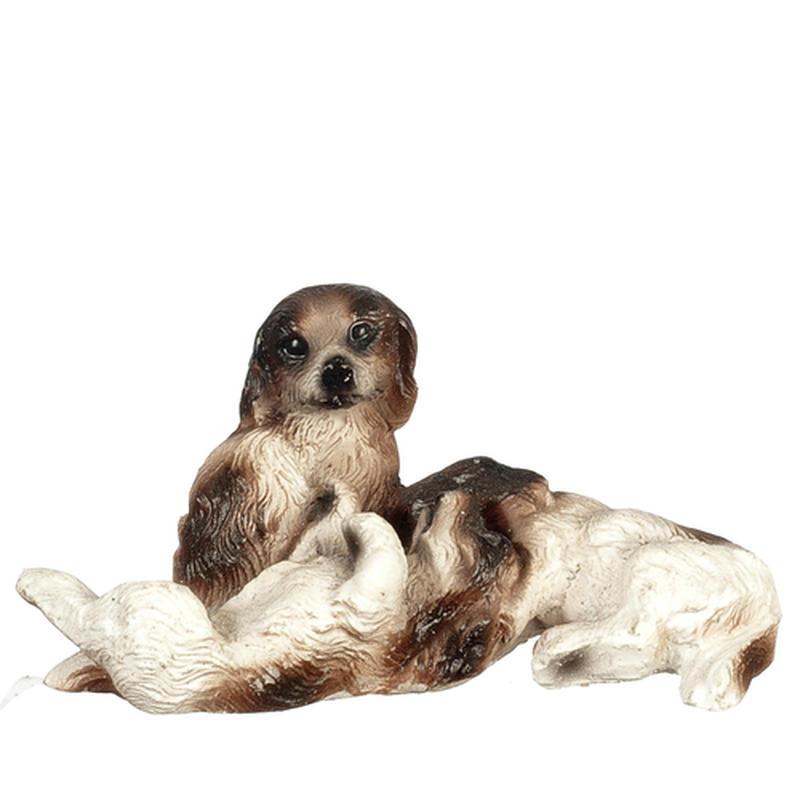 Dollhouse Miniature Dog Family