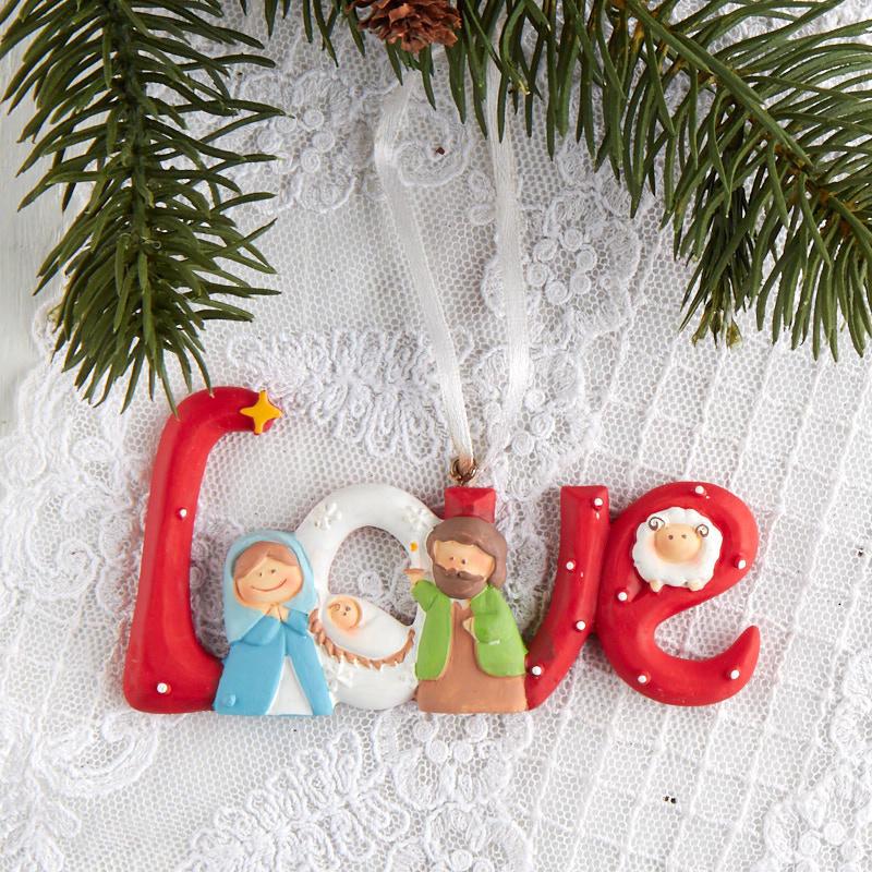 "Holy Family ""Love"" Christmas Ornament - Christmas ..."