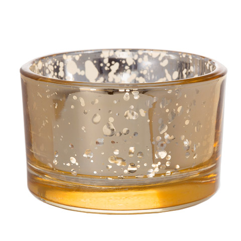Short Gold Mercury Glass Votive Candle Holders Candles And
