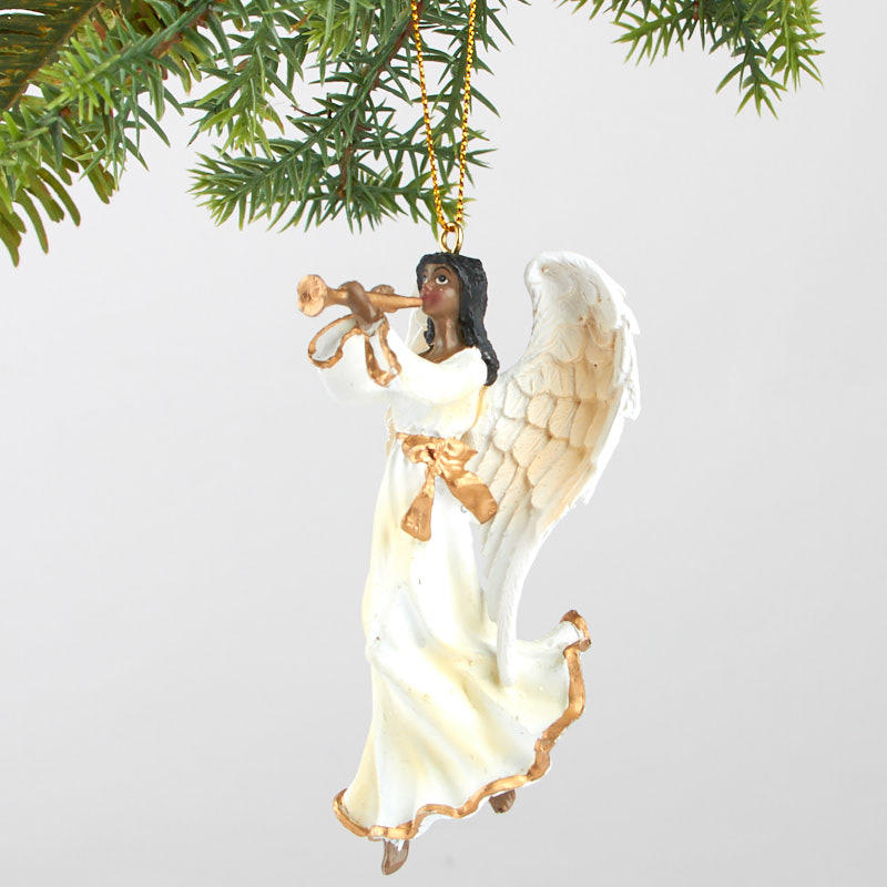 African American Angel Christmas Ornament - Christmas ...