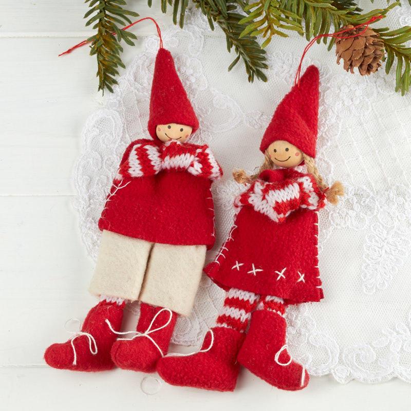 Felt Scandinavian Elf Christmas Ornament Christmas Ornaments Christmas And Winter Holiday Crafts Factory Direct Craft