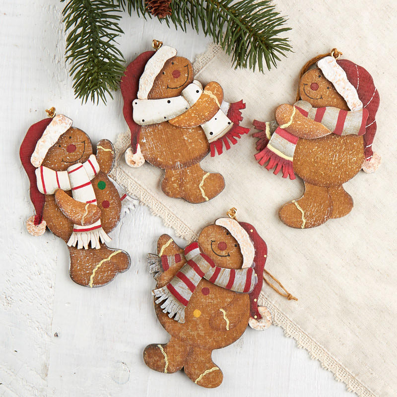 Gingerbread Man Cookies 5c Rustic Primitive home decor