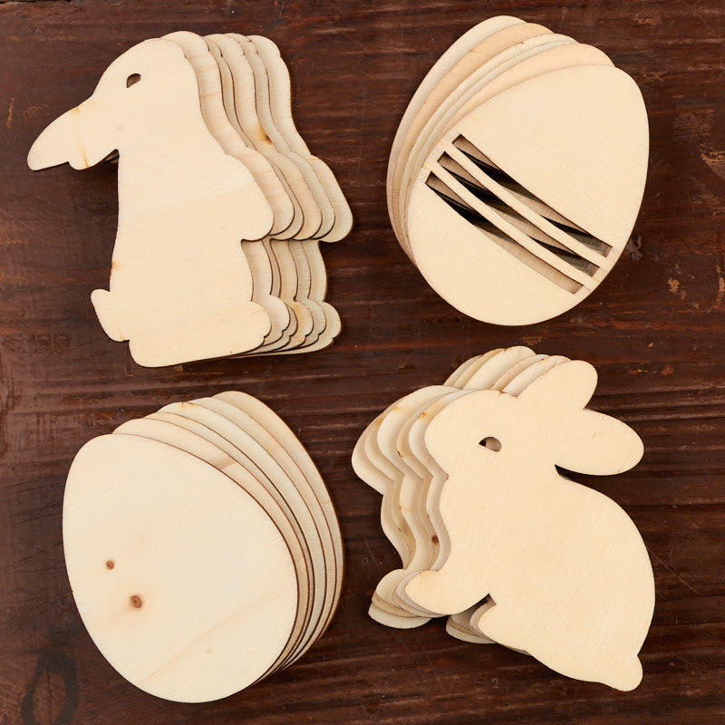 Unfinished Wood Easter Cutouts - Wood Cutouts - Wood Crafts