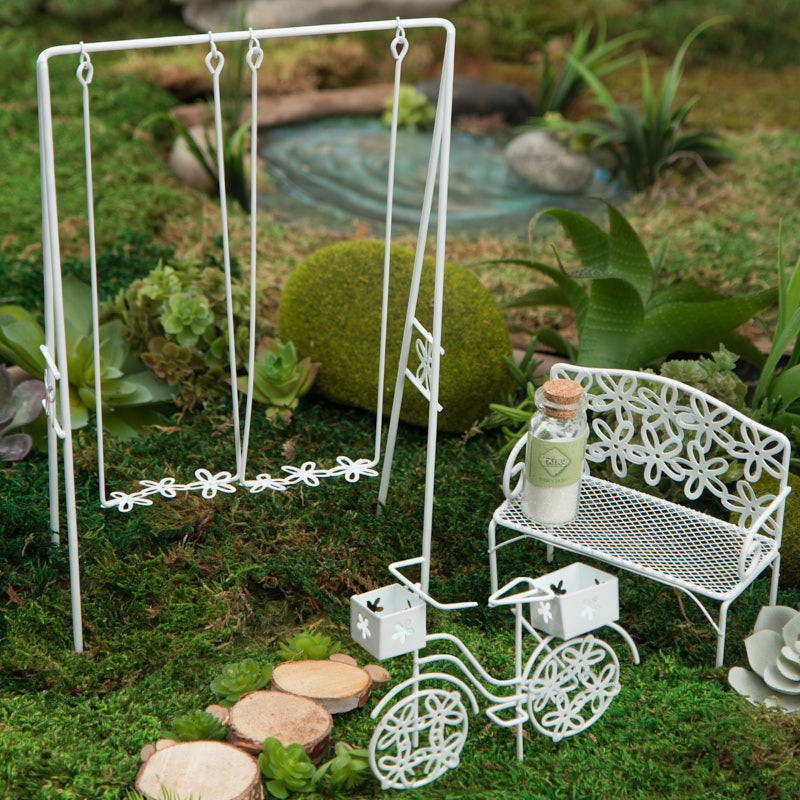miniature fairy garden park set miniature furniture dollhouse miniatures doll making. Black Bedroom Furniture Sets. Home Design Ideas