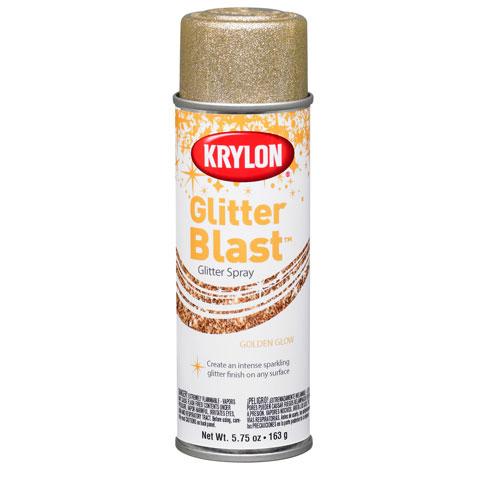 Krylon glitter blast golden glow glitter spray paint for Spray glitter for crafts