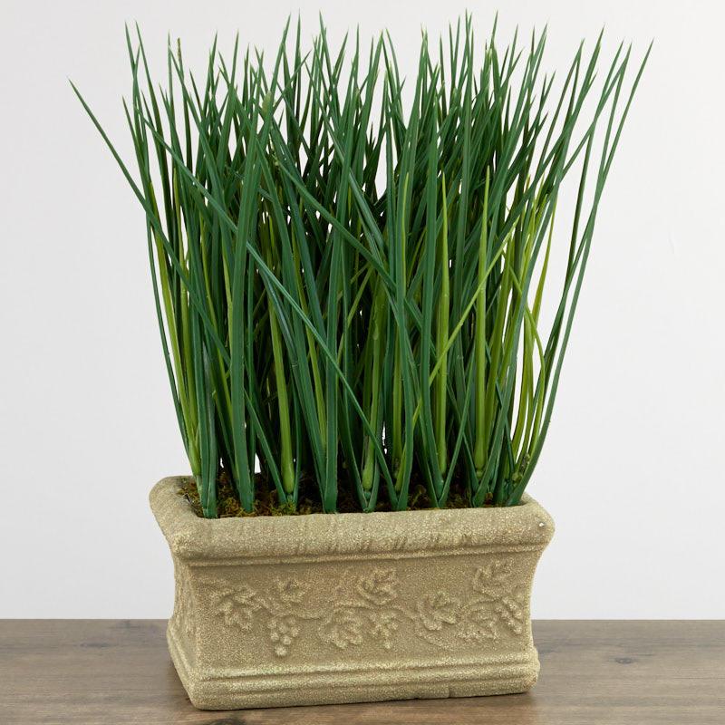 Artificial Wheatgrass Planter Artificial Greenery Floral