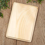 Unfinished Beveled Wooden Rectangle Plaque