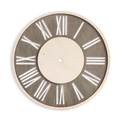 Roman Numeral Wood Clock Face