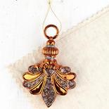 Copper Fleur De Lis Ornament