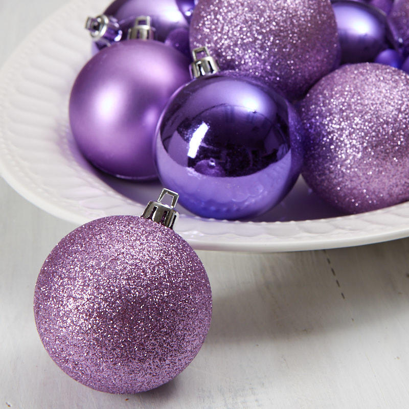 Purple Christmas Ball Ornaments - Christmas Ornaments ...