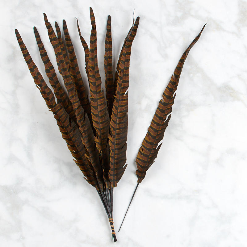 Artificial pheasant feathers feathers basic craft for Synthetic feathers for crafts