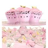 """Pink """"Baby Girl"""" Cupcake Wraps"""