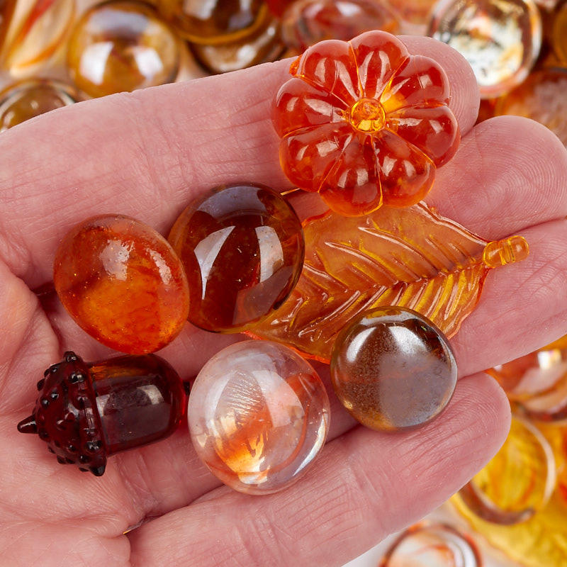 Assorted autumn glass and acrylic table scatters bowl for Glass and acrylic
