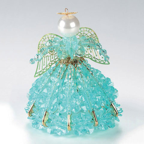 Beaded Safety Pin Angel Ornament Craft Kit