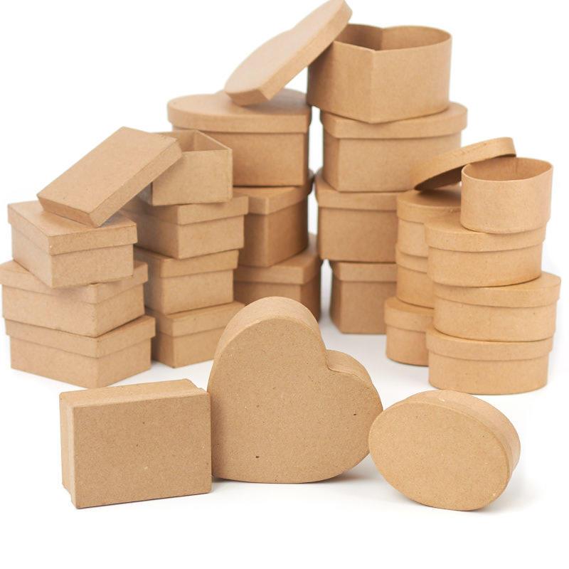 Bulk Assorted Paper Mache Boxes - Paper Mache - Basic ...