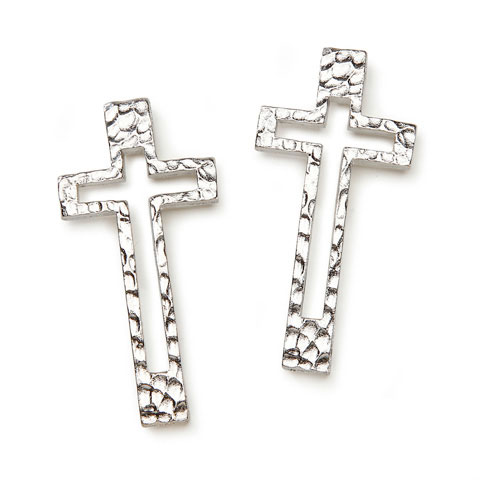 Silver Cross Frame Charms - Charms & Pendants - Jewelry Making ...