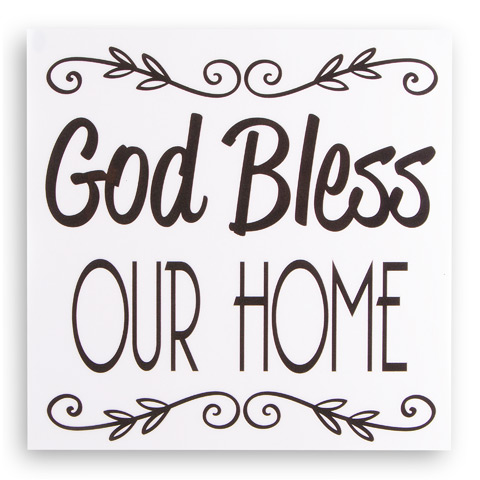 Attractive God Bless Our Home Decal - Wall Decor - Home Decor NI67