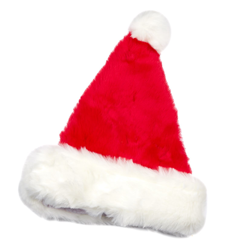 5595dfc08cb65 Red Plush Adult Santa Hat - Holiday Craft Supplies - Christmas and ...