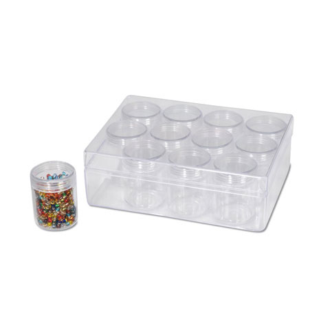 Clear Bead Storage Containers And Storage Case Set Storage Containers Jewelry Making Craft Supplies Factory Direct Craft