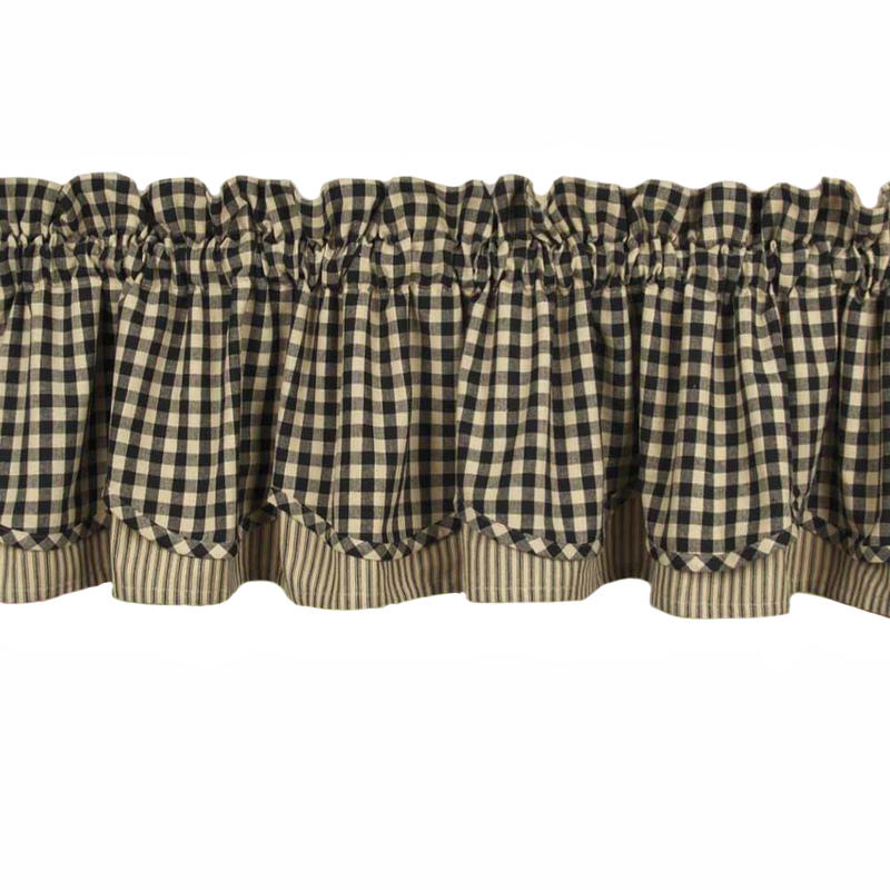 Heritage House Check Fairfield Valance Black What 39 S New