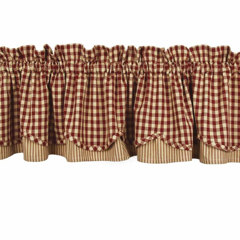 Heritage House Check Fairfield Valance Barn Red What 39 S