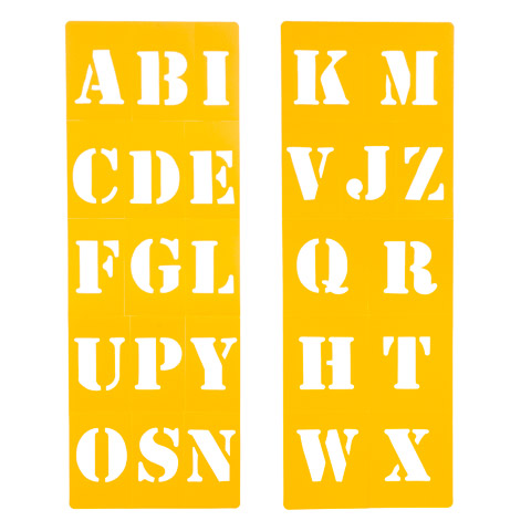 Stencil Font Uppercase Letters Stencil