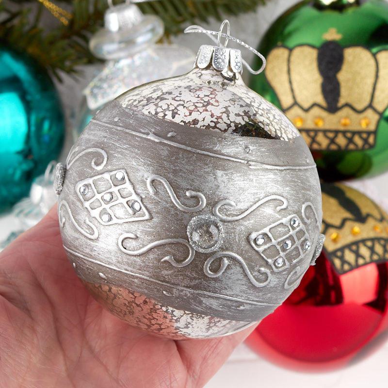 Religious Christmas Ornament Assortment: Assorted Glass Ball Ornament Set