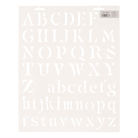 Upper and Lowercase Letters Stencil