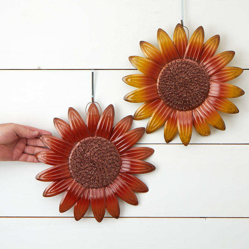 autumn sunflower wall decor wall art fall and halloween holiday crafts. Black Bedroom Furniture Sets. Home Design Ideas