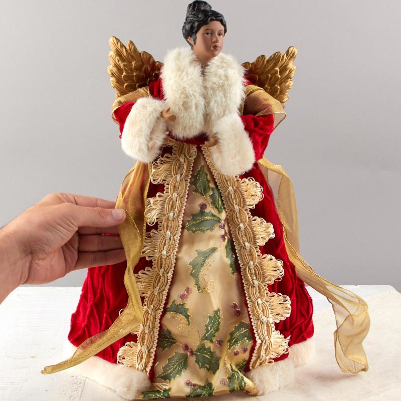 Vintage Inspired African American Angel Christmas Tree Topper