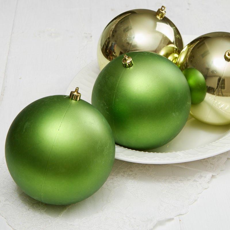 Green Christmas Ball Ornaments