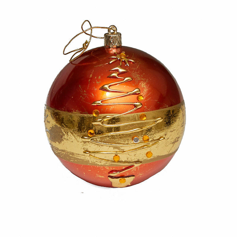 click here for a larger view - Gold Christmas Ornaments