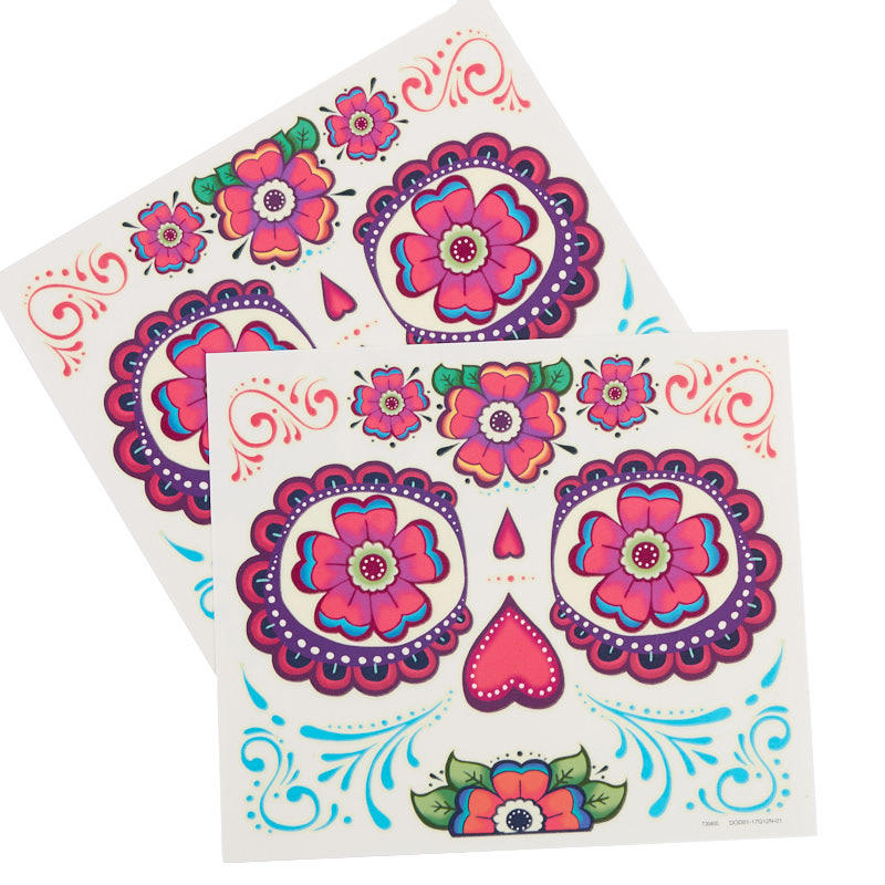 Glow in the dark day of the dead pumpkin tattoos fall for Day of the dead craft supplies