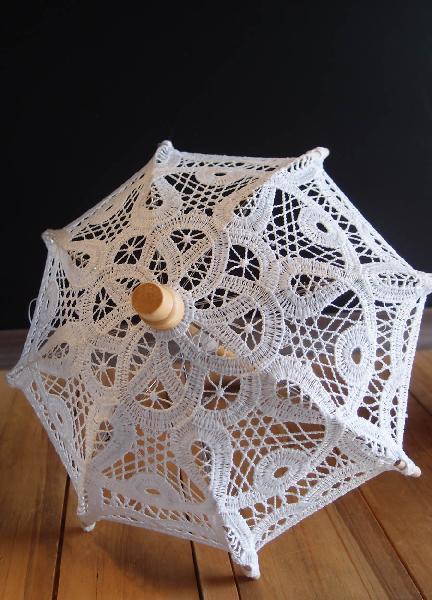 white battenburg lace parasol umbrella doll accessories doll