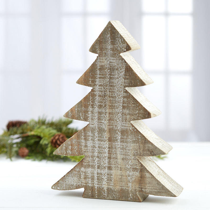Rustic Wood Tabletop Christmas Tree