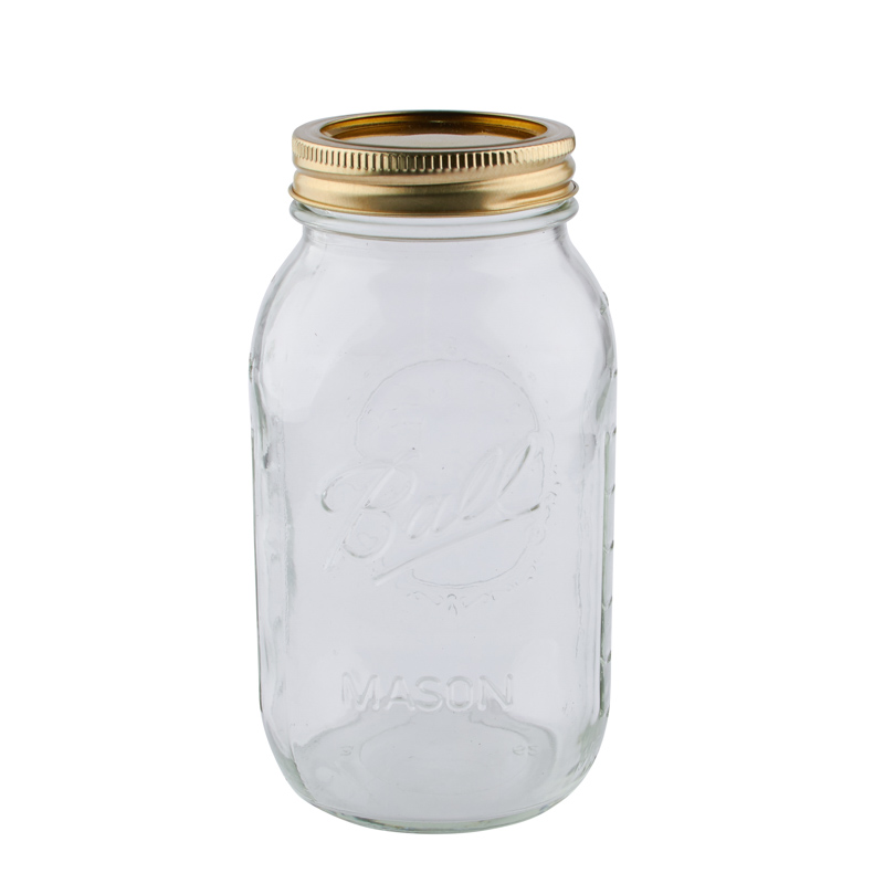 26b4c63b86870 Mason Glass Jar with Gold Lid - Jar Lids - Basic Craft Supplies ...