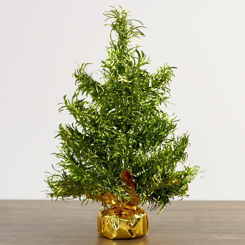 Tinsel Christmas Tree.Green Tinsel Christmas Tree