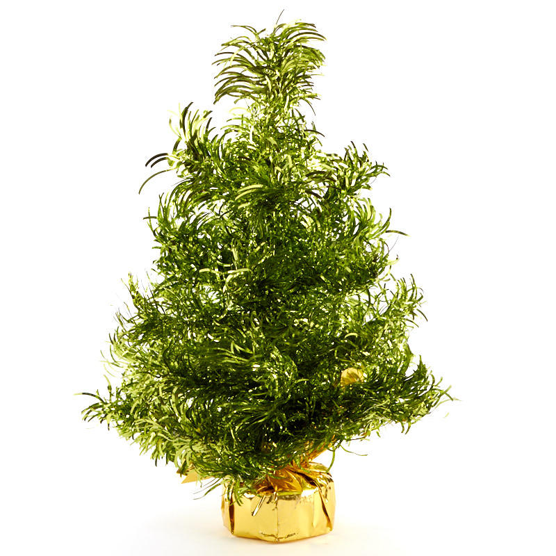 Green Tinsel Christmas Tree - Trees and Toppers ...
