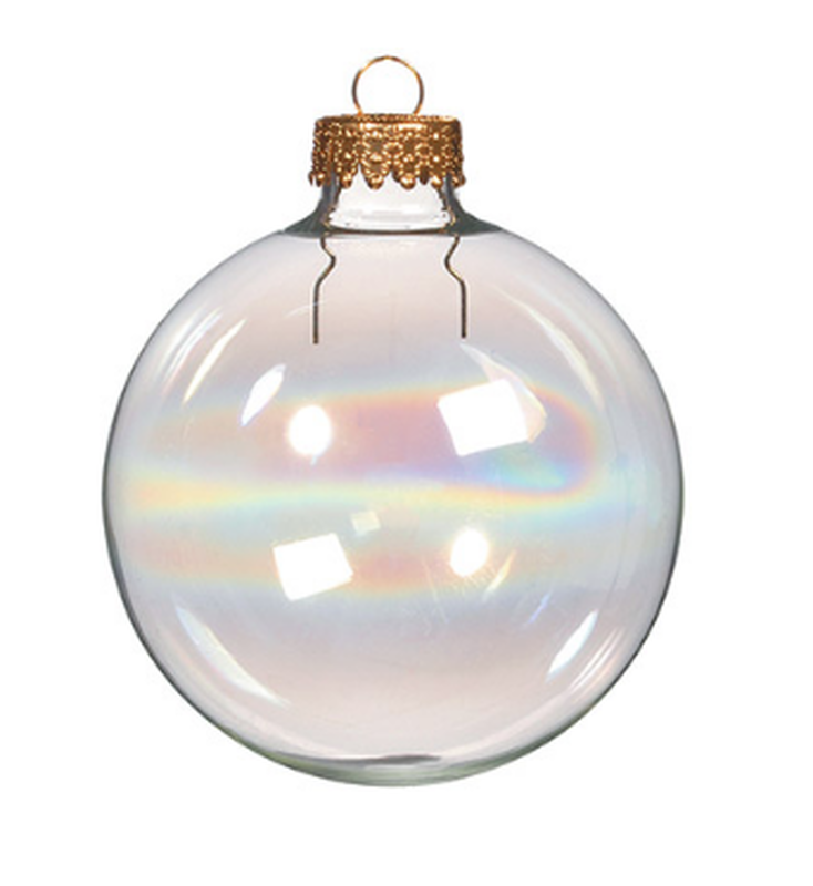 Iridescent Glass Ball Ornaments