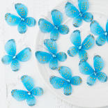 Turquoise Nylon Artificial butterflies