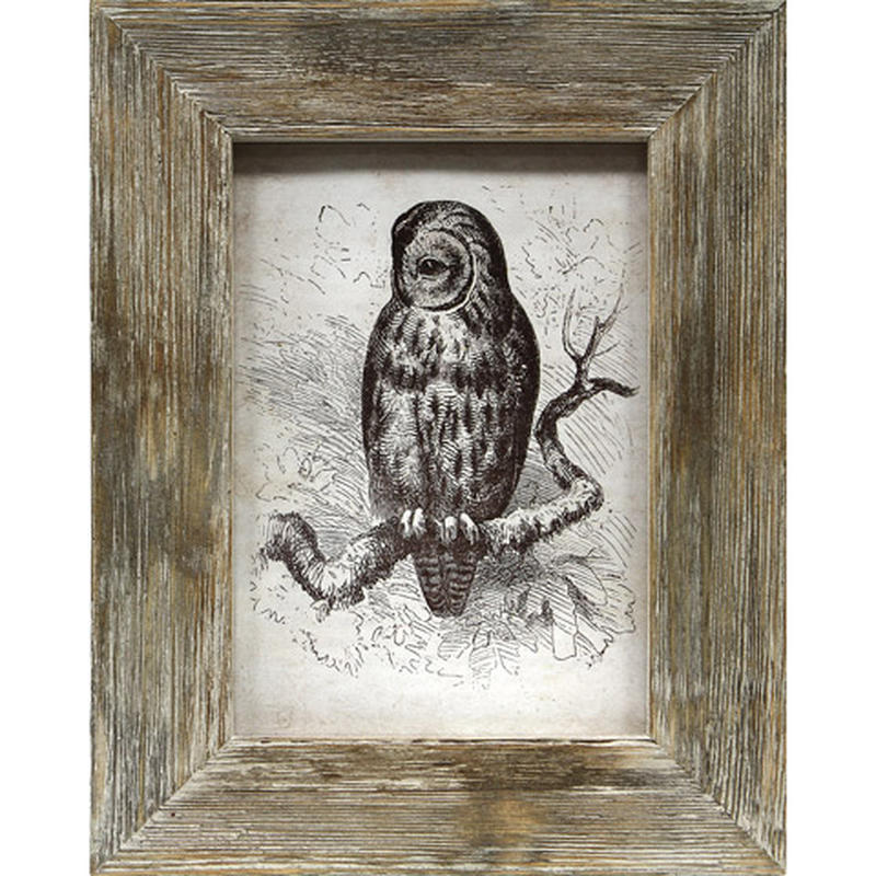 Weathered Brown Barn Wood Picture Frame - Picture Frames ...