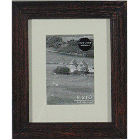Rustic Brown Black Wire Brushed Picture Frame Picture